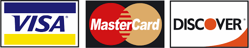 Payment Methods - Visa, MasterCard and Discover