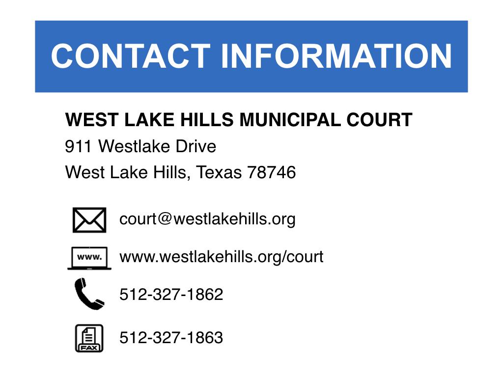 Municipal Court | West Lake Hills, TX - Official Website