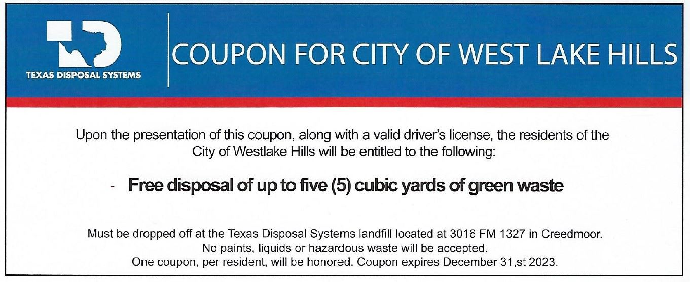 coupon for bulk waste Opens in new window